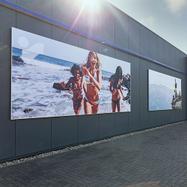Bannerrahmen zur Wandmontage