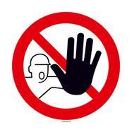 Zutritt für Unbefugte verboten Schild rund