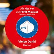 """Fensterfolie """"FFP2-Maske tragen"""""""