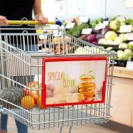 Plakatrahmen für Einkaufswagen