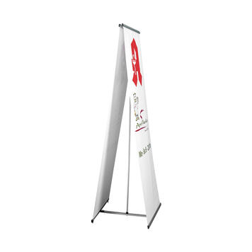 "Banner-Display ""Easy"", beidseitiges L-Display"