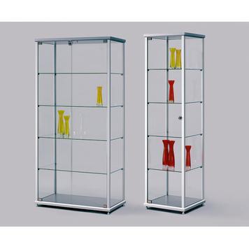 Ausstellungsvitrine aus Floatglas