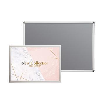 Klapprahmen, 25 mm Profil, silber eloxiert, Gehrungs- / Rondoecken