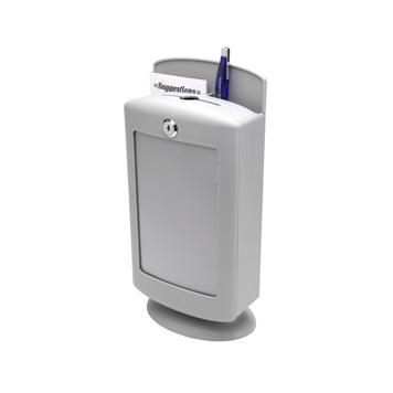 Suggestion Box aus Kunststoff, lichtgrau