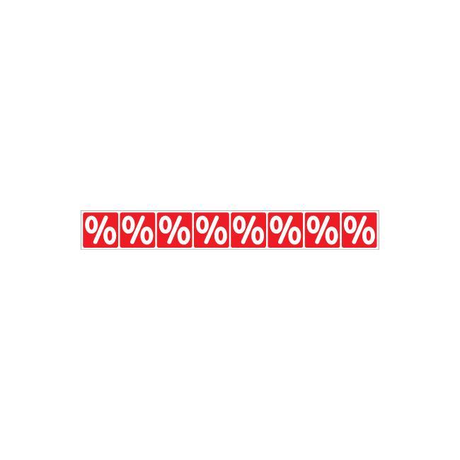 Aufkleber Prozentzeichen-Banderole, waagerecht