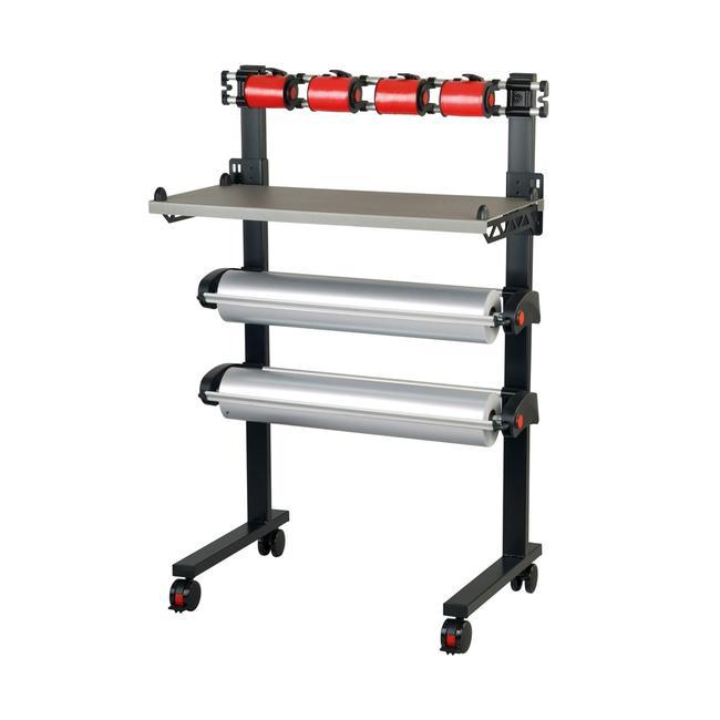 Multi-Vario Ständer fahrbar mit 2 Abrollern und Bandabrollern