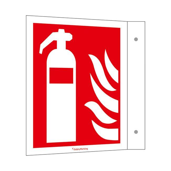 Feuerlöscher Fahnenschild
