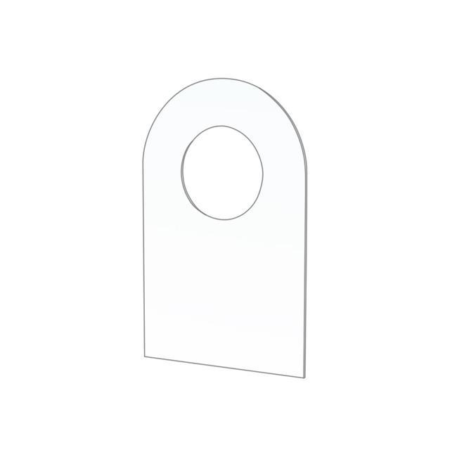 Nachrüstklebehaken mit ø 10 mm Rundloch für Blisterverpackungen