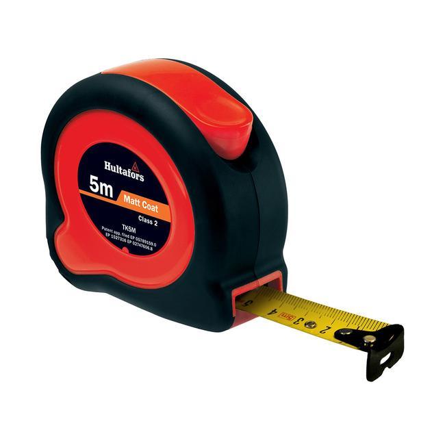 Stahlbandmaß, schwarz / rot; 3-, 5- oder 8 Meter Länge