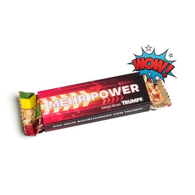 Powerbar Energy Riegel im Werbeschuber