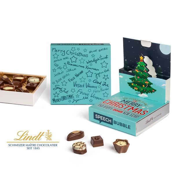 Lindt Mini Pralinés im Christmas Pop Up