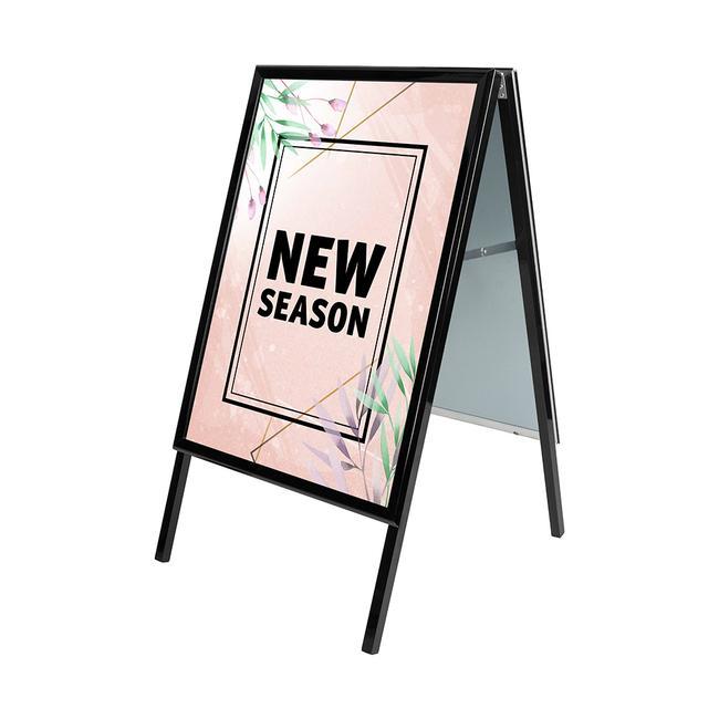 Kundenstopper, 32 mm profil, Gehrungsecken, schwarz