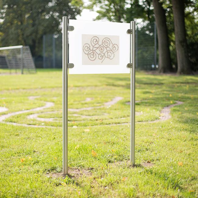 """Firmenschild """"Straight-Line Entrance"""" mit Acrylglasplatte"""