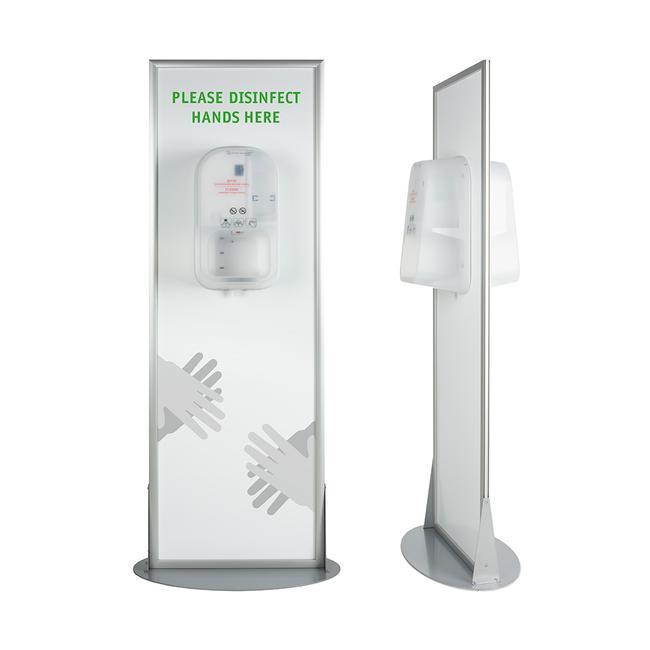 """Hygienestation """"Multi"""" 2-seitig mit Steripower-Handdesinfektionsgeräten"""