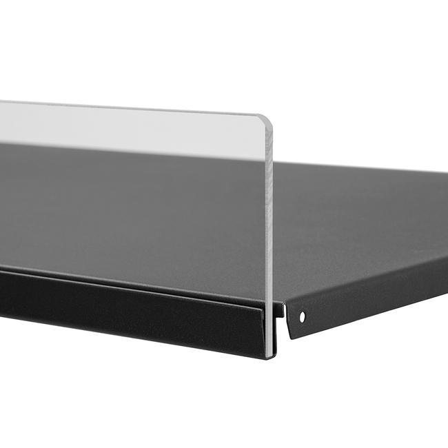 Frontblende 5 mm, Einsteckleiste für Metall-Regalböden
