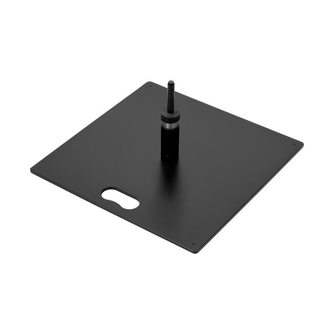 Bodenplatte für Beachflag, eckig, schwarz