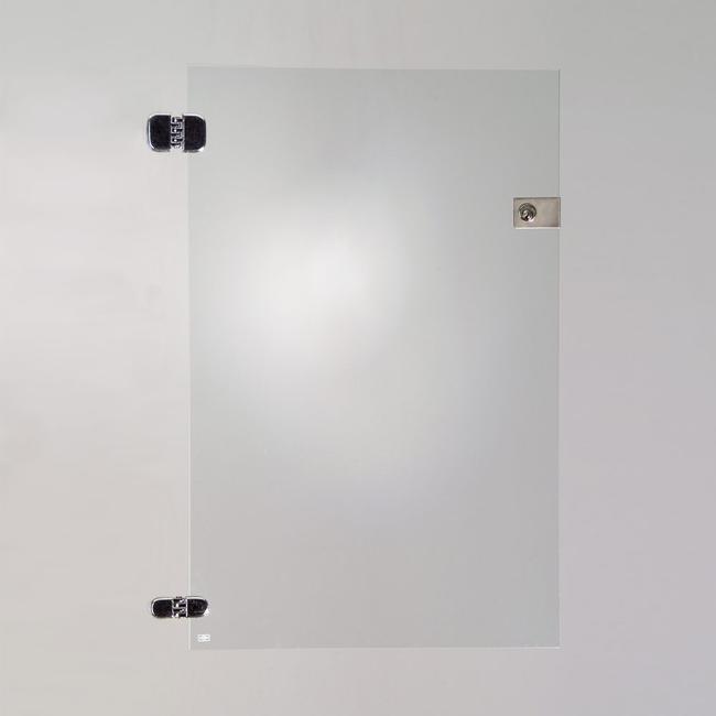 Glastür für 2 Fächer der Selbstbauvitrinen