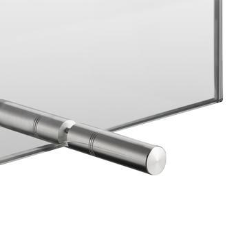 Hygieneschutzscheibe aus Glas, zum Aufstellen