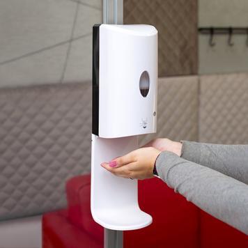Sensor-Wall - Nachrüstset Desinfektionsspender für Stretchframes & 30er Quattro-Profile
