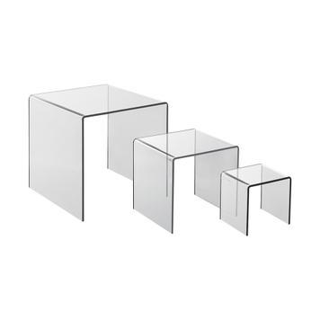 3-teiliges Acrylpodest Set
