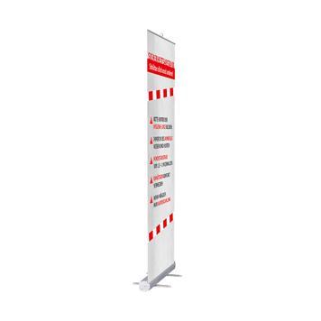 """Rollbanner """"Stick"""" inkl. Banner """"Abstand halten"""""""