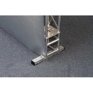 Bodenhalterung Vierkantrohr für Gitter-Leicht-System
