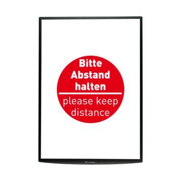 """Plakat """"Bitte Abstand halten"""", DIN A1"""