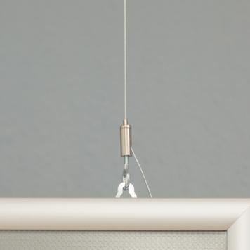 Doppelseitiger Klapprahmen, 25 mm Profil, silber eloxiert, Gehrungsecken