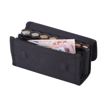 Geldbörse mit transparentem Münzspender