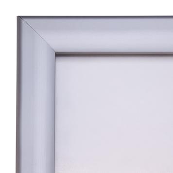 """Regenwasserfester Kundenstopper """"RT"""", 35 mm Profil, Gehrungsecken, silber eloxiert"""