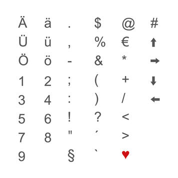 Indoor Leuchtbuchstaben